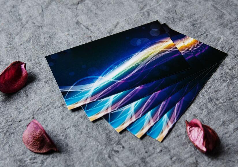 蝶影纹纸名片印刷
